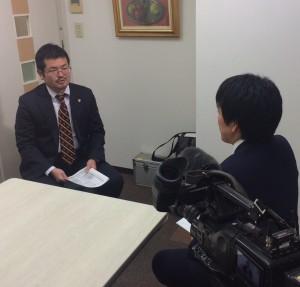 NHK天久取材